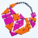 LOLLIPOP – orange and pink with black steel links