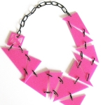 CANDY – pink with black steel links