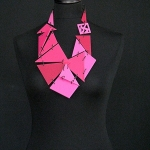 PINK LADY – three shades of pink with black steel links
