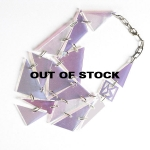 OUT OF STOCK / RAINBOW – iridescent with gold brass links