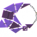 VELVET – two shades of purple with black steel links