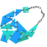 ZEPHYR – turquoise and blue with black steel links